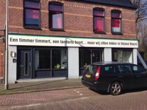Een timmer timmert, een tandarts boort... maar wij zitten lekker in Velsen Noord - aannemer Braak Velsen