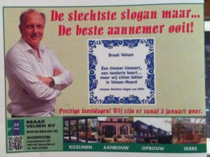 Advertentie Braak Velsen